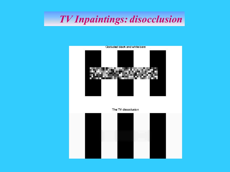 TV Inpaintings: disocclusion