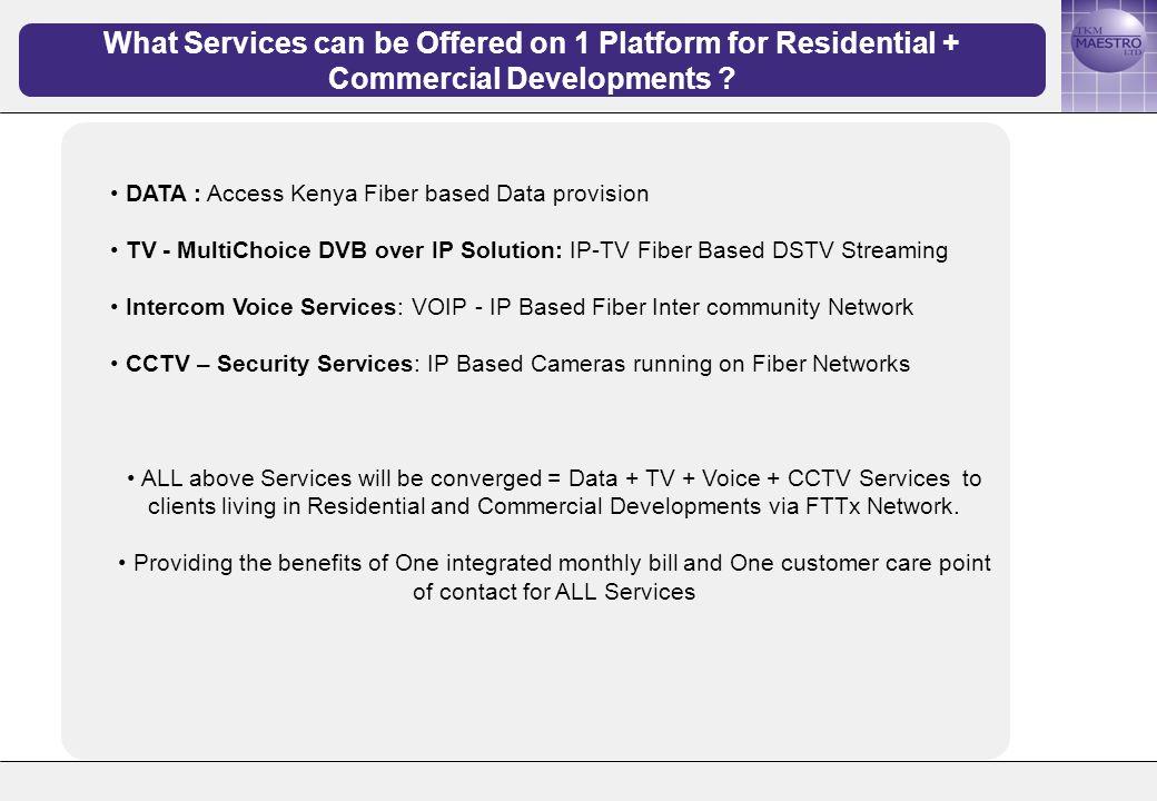 DATA – Access Kenya Fiber based Data provision How will Access Kenya Data be provided over Fiber .