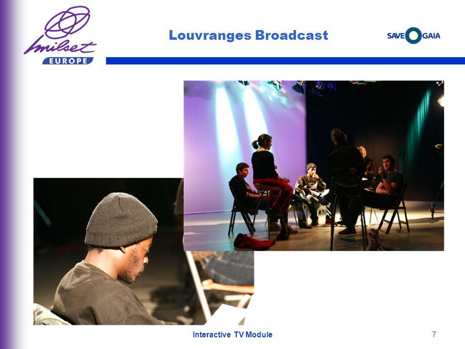 7 Louvranges Broadcast Video director: Cédric Havenith Interactive TV Module