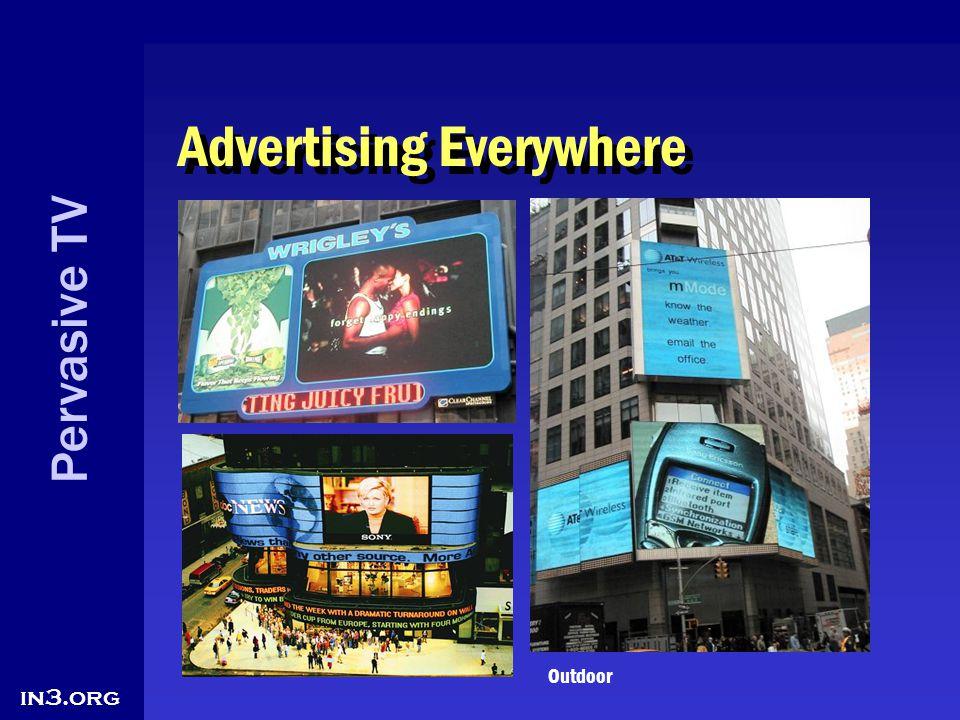 Pervasive TV in3.org Advertising Everywhere Outdoor