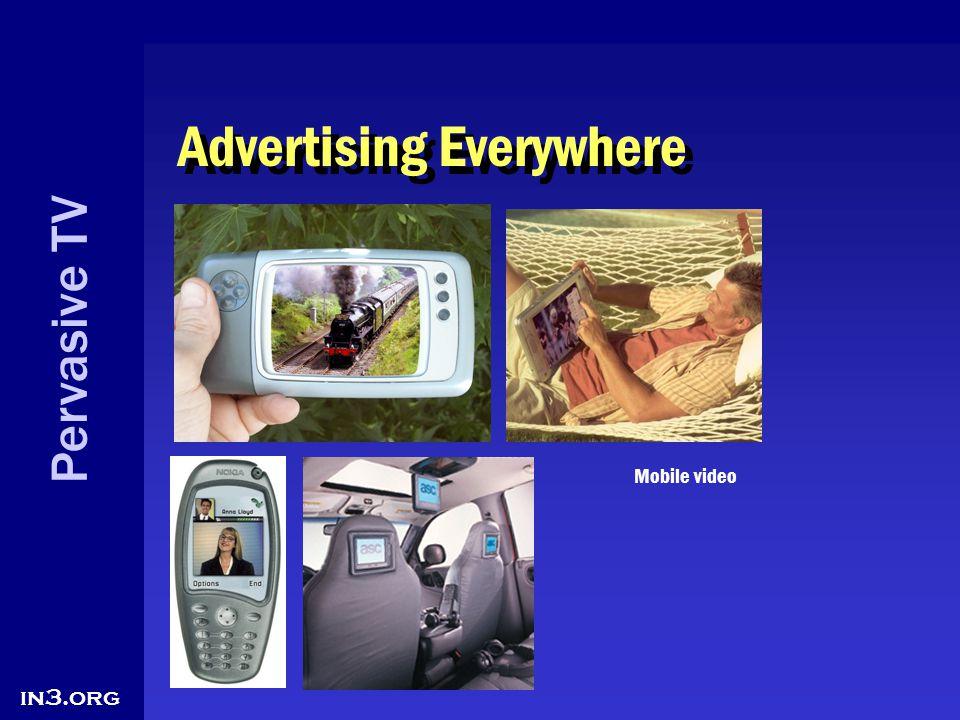 Pervasive TV in3.org Advertising Everywhere Mobile video