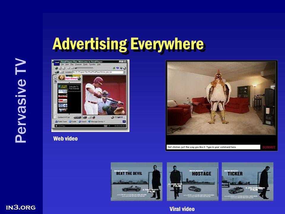 Pervasive TV in3.org Advertising Everywhere Web video Viral video