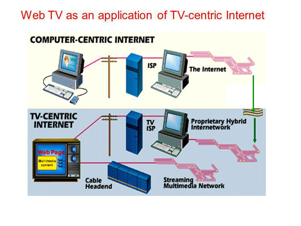 Web TV as an application of TV-centric Internet