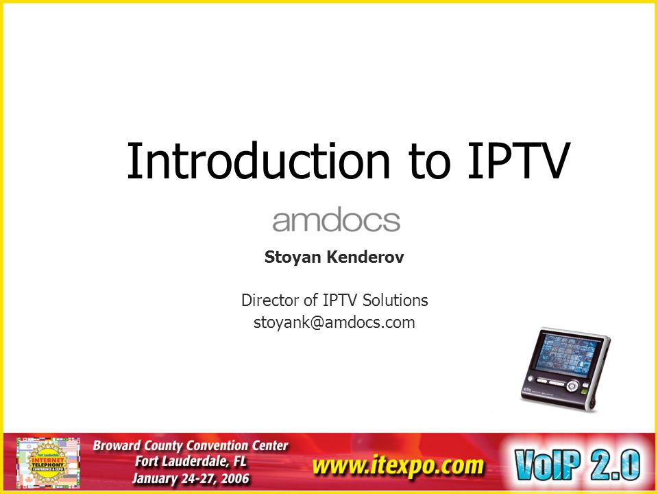 Agenda Overview Technology Market and Business Trends Opportunities and Challenges Key Success Factors Integration of IPTV and VoIP Summary & Q&A