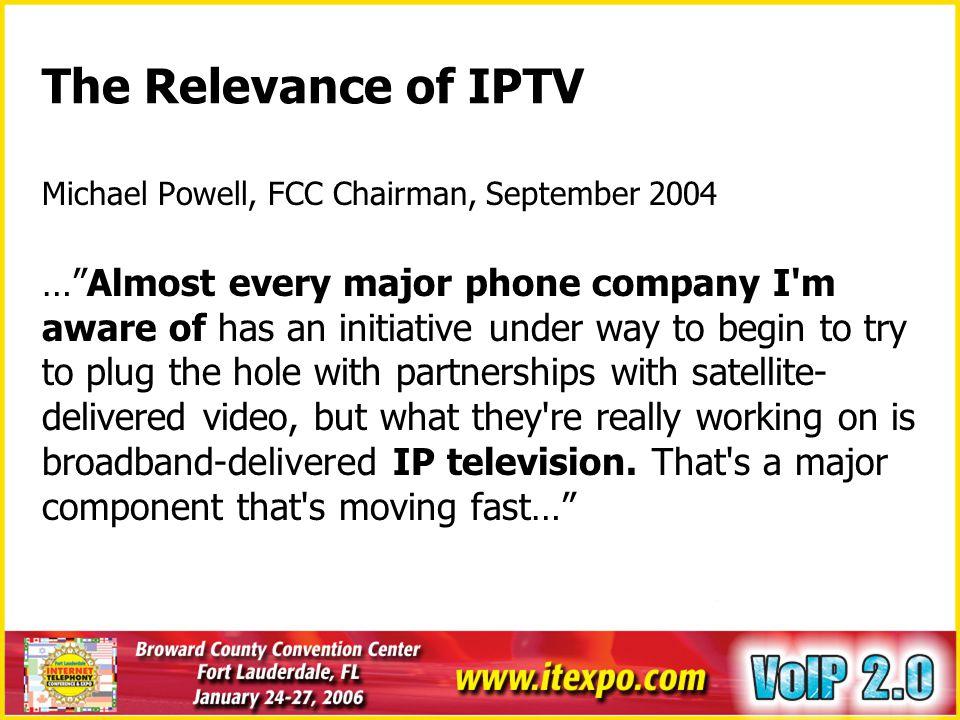 IPTV Market - Global IPTV Revenue Forecast Source: MRG Inc.