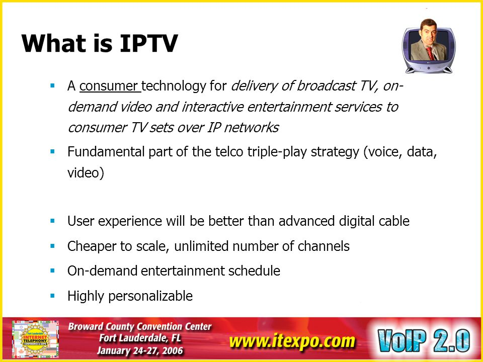 IPTV-VoIP Integration Points TransportHeadendAccessHome DSL CPE/ FTTH IGMP Router IPTV Apps Servers DSLAM VoIP STB VoIP Soft switch/ Gatekeeper