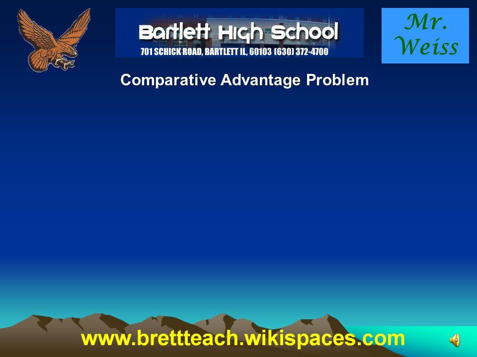 Mr. Weiss Comparative Advantage Problem