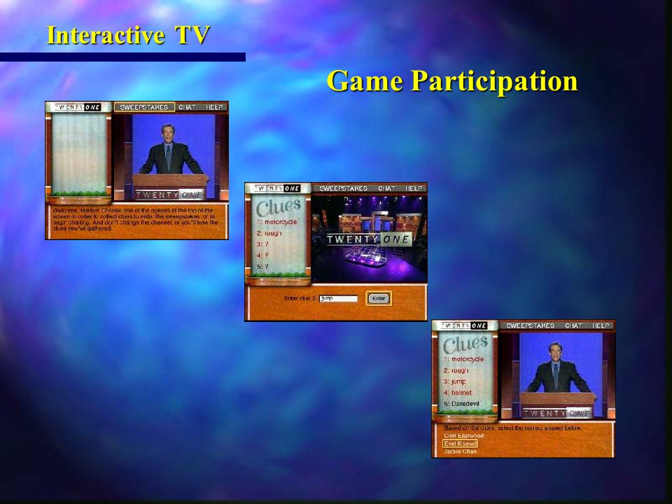 Game Participation Game Participation Interactive TV