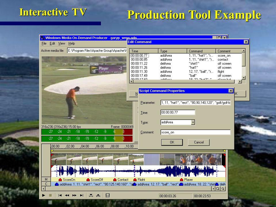 Production Tool Example Production Tool Example Interactive TV