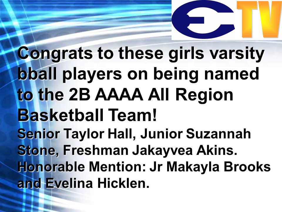 Congrats to these girls varsity bball players on being named to the 2B AAAA All Region Basketball Team.