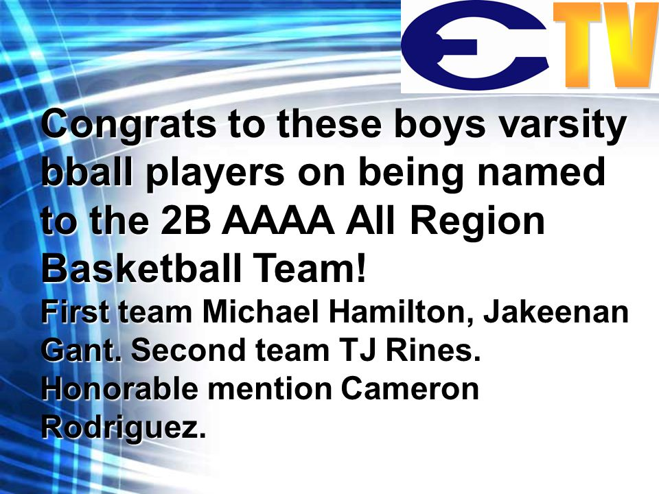 Congrats to these boys varsity bball players on being named to the 2B AAAA All Region Basketball Team.