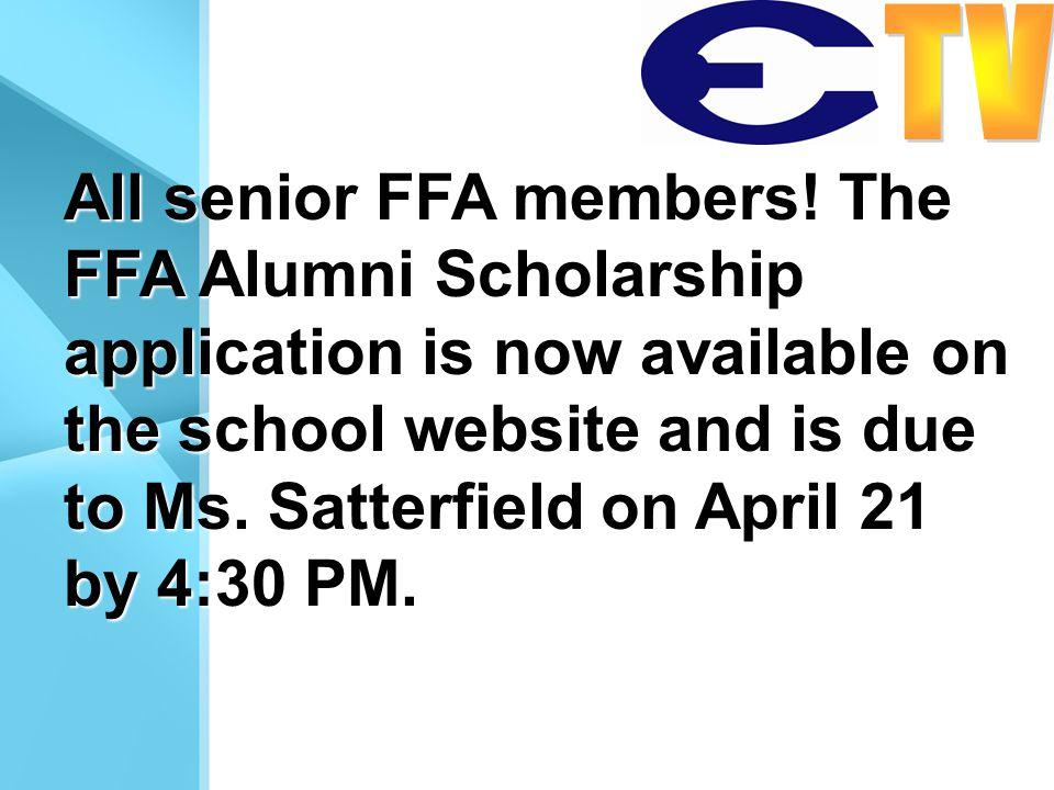 All senior FFA members.