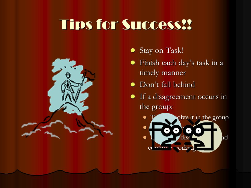 Tips for Success!. Stay on Task. Stay on Task.