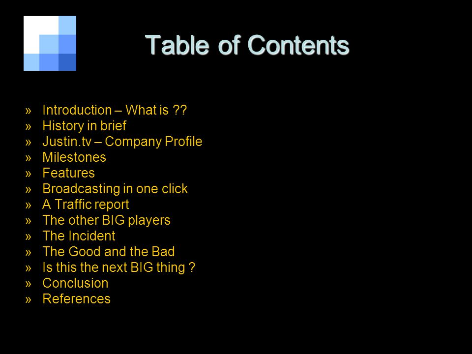 Table of Contents Table of Contents »Introduction – What is .