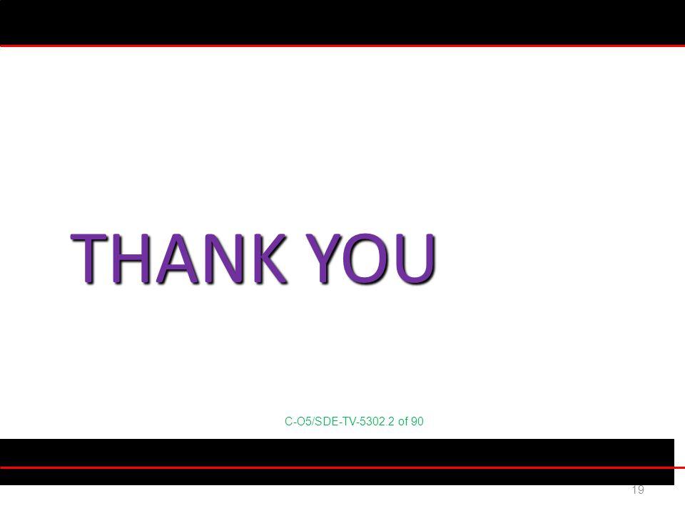 C-O5/SDE-TV-5302.2 of 90 19 THANK YOU