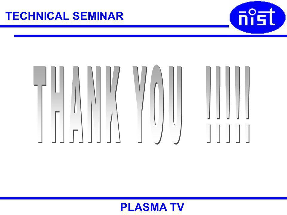 TECHNICAL SEMINAR PLASMA TV