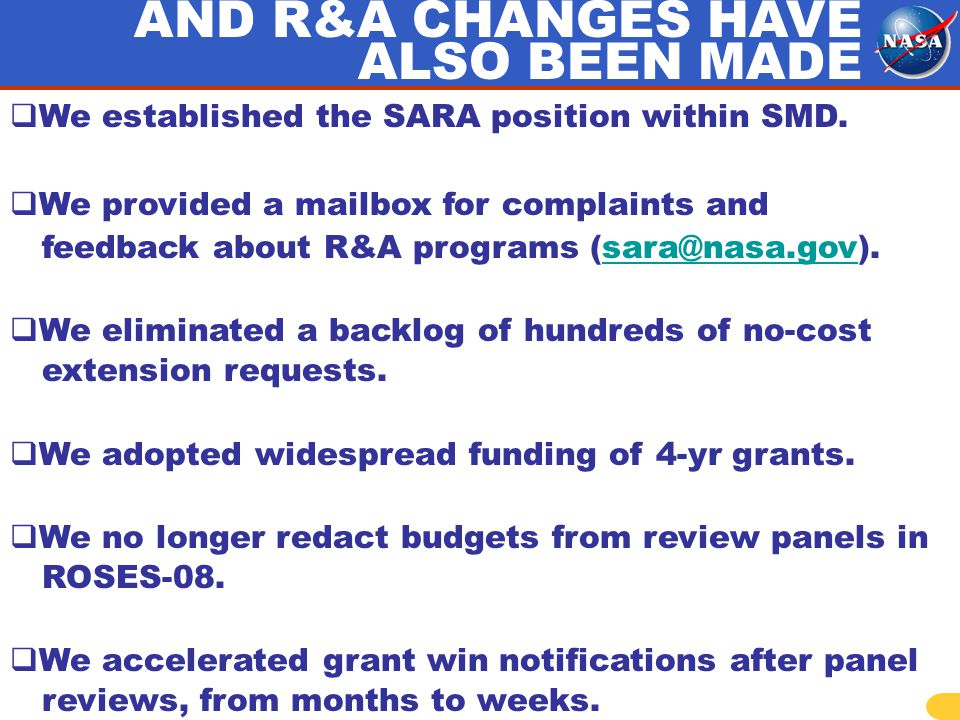 We established the SARA position within SMD.