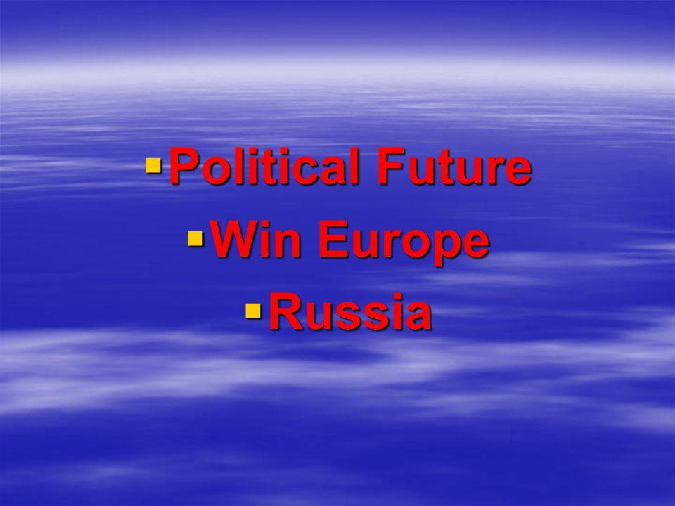 Political Future Political Future Win Europe Win Europe Russia Russia