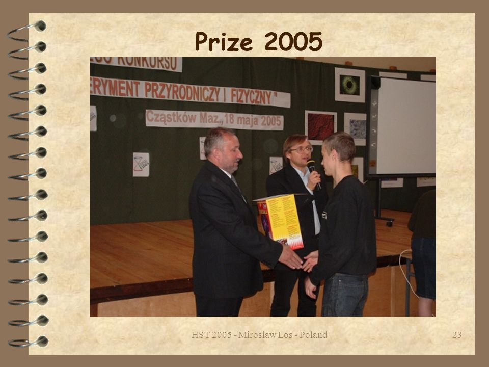 HST 2005 - Miroslaw Los - Poland23 Prize 2005