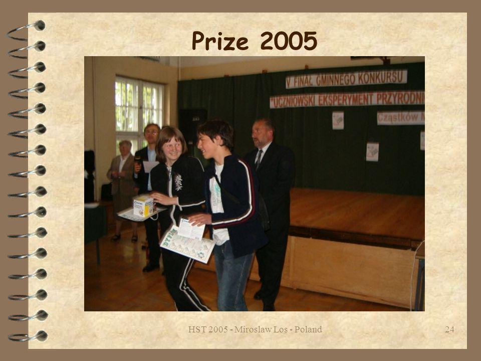 HST 2005 - Miroslaw Los - Poland24 Prize 2005