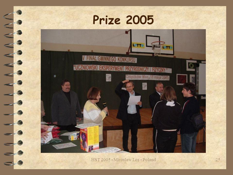 HST 2005 - Miroslaw Los - Poland25 Prize 2005