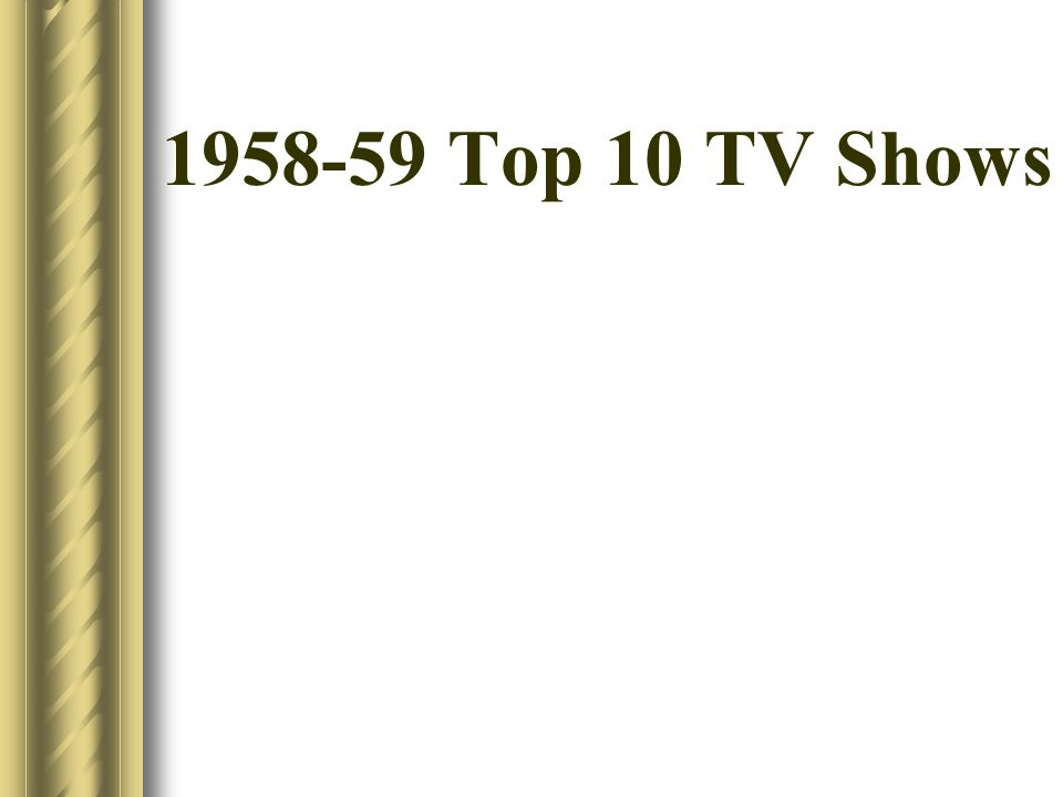 1958-59 Top 10 TV Shows