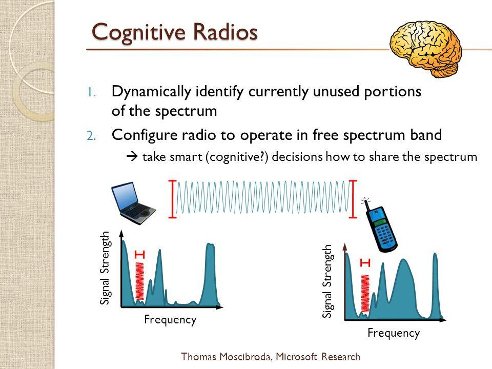 $ Thomas Moscibroda, Microsoft Research Cognitive Radios 1.