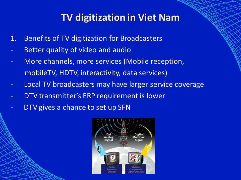 Spectrum arrangement for terrestrial TV 5.