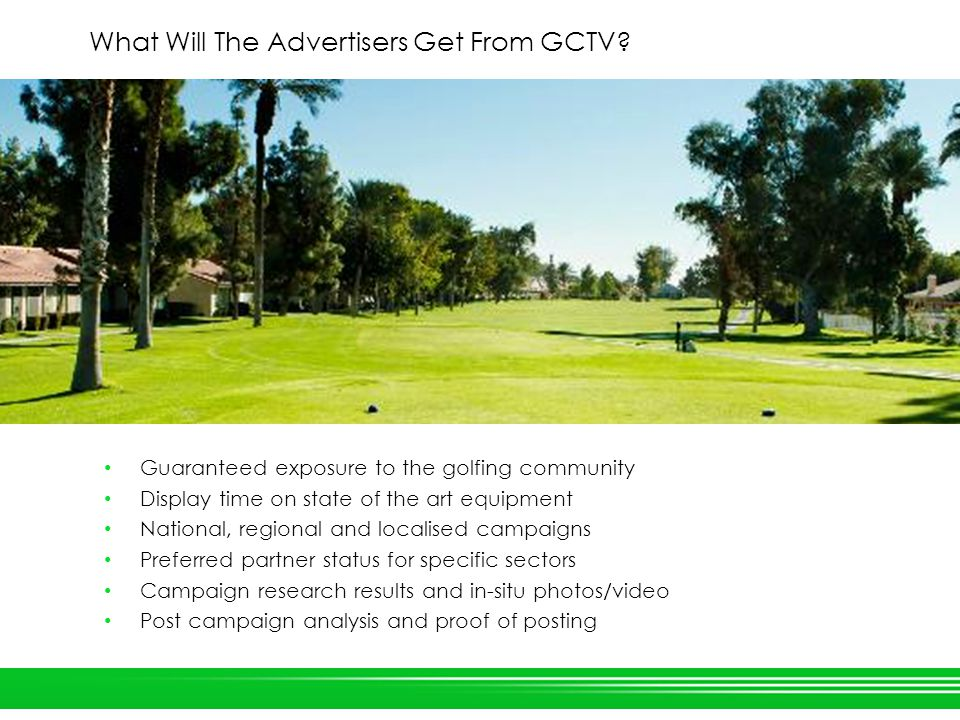 What Will The Advertisers Get From GCTV.