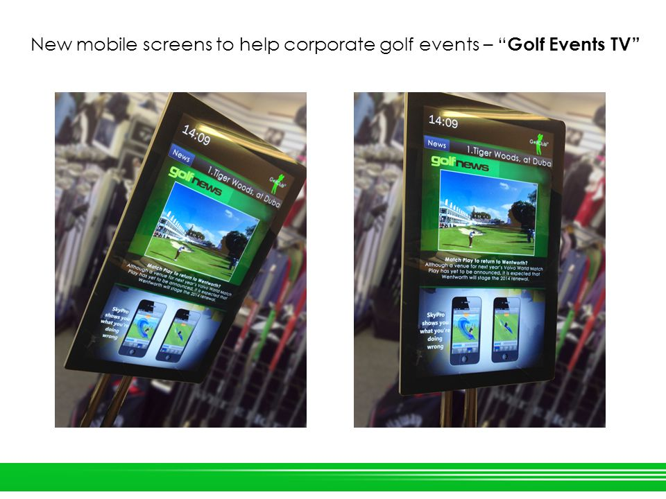 New mobile screens to help corporate golf events – Golf Events TV