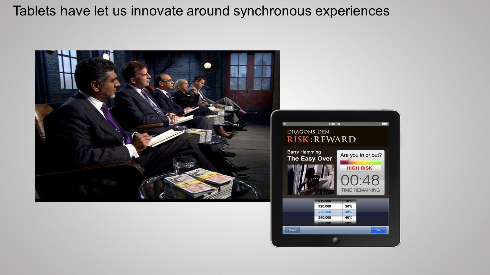 Tablets have let us innovate around synchronous experiences