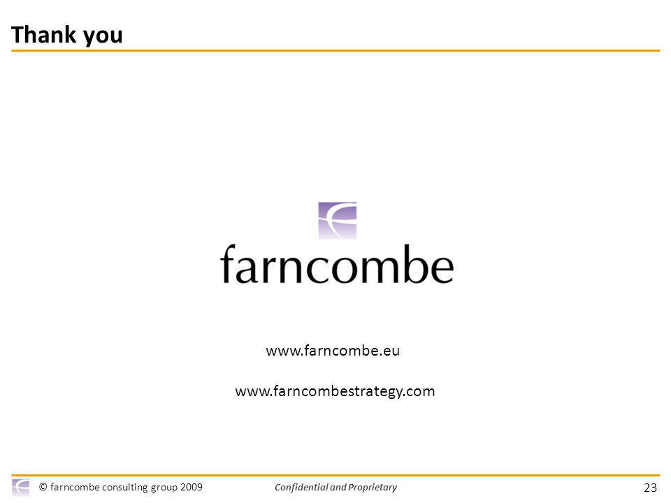 Confidential and Proprietary 23 © farncombe consulting group Thank you
