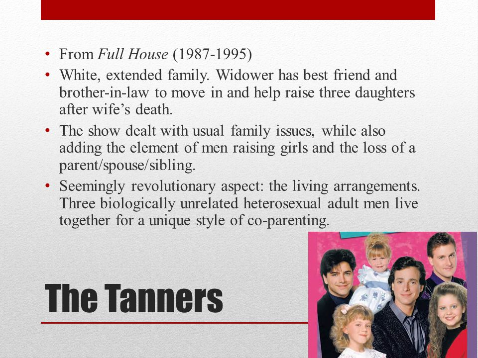 The Tanners From Full House (1987-1995) White, extended family.