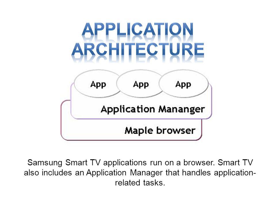 Samsung Smart TV applications run on a browser.