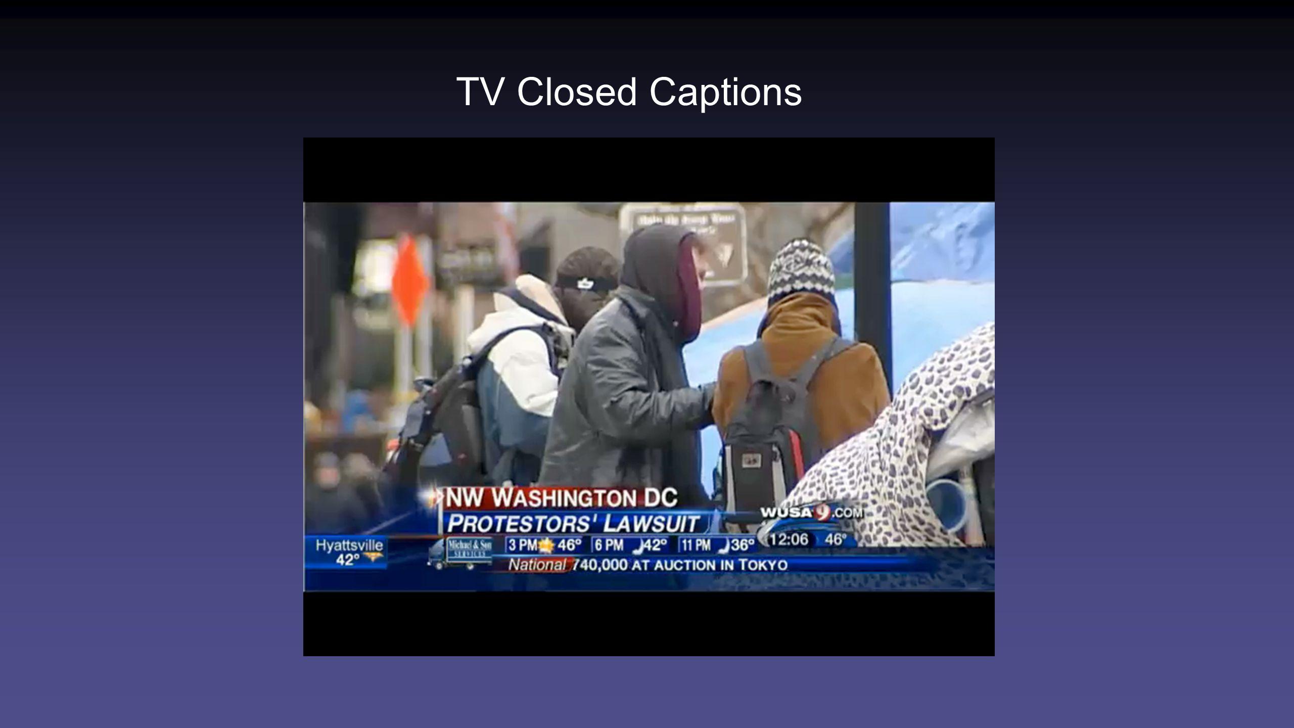 TV Closed Captions