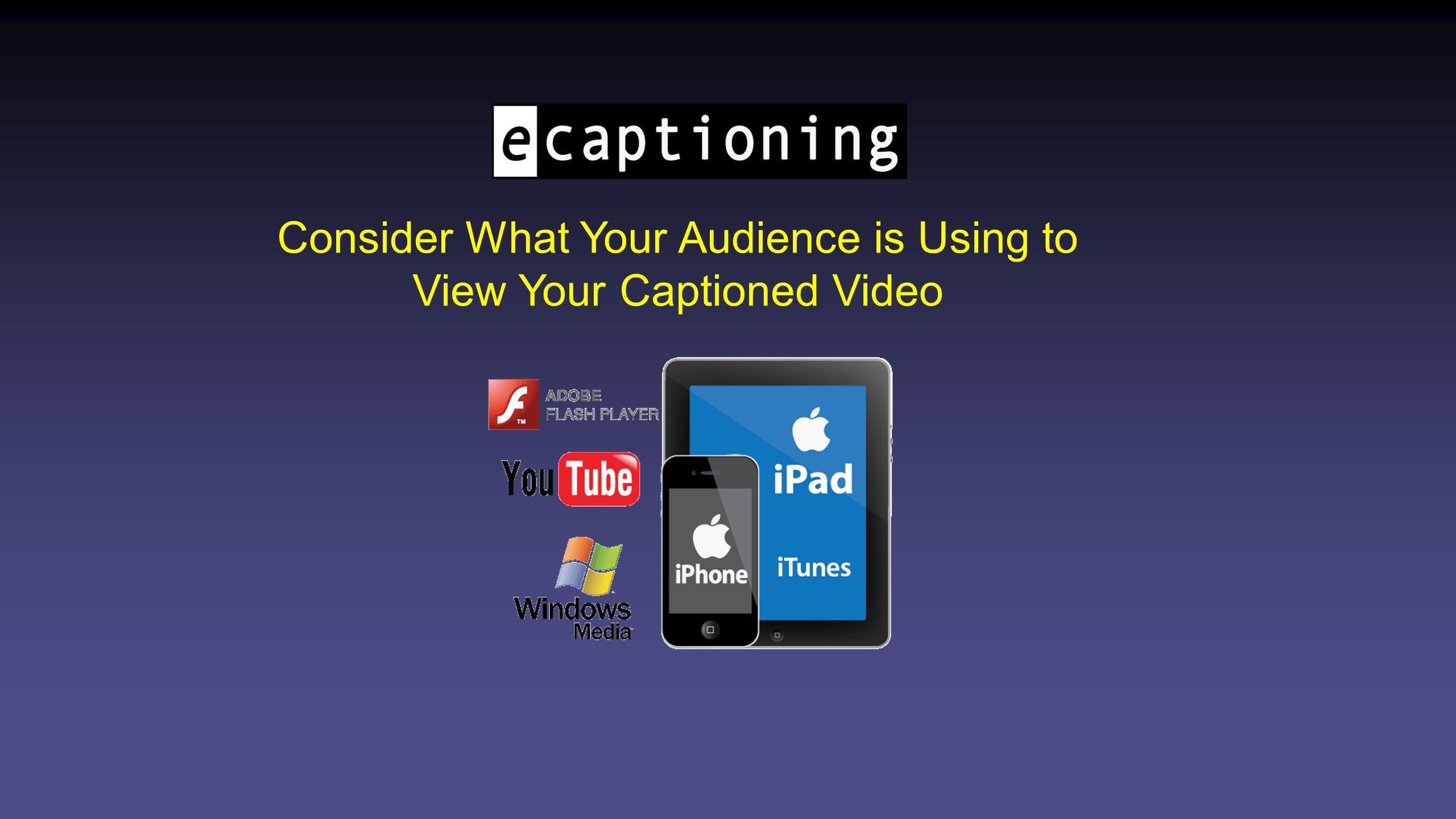 Flash Player w/ Closed Captioning