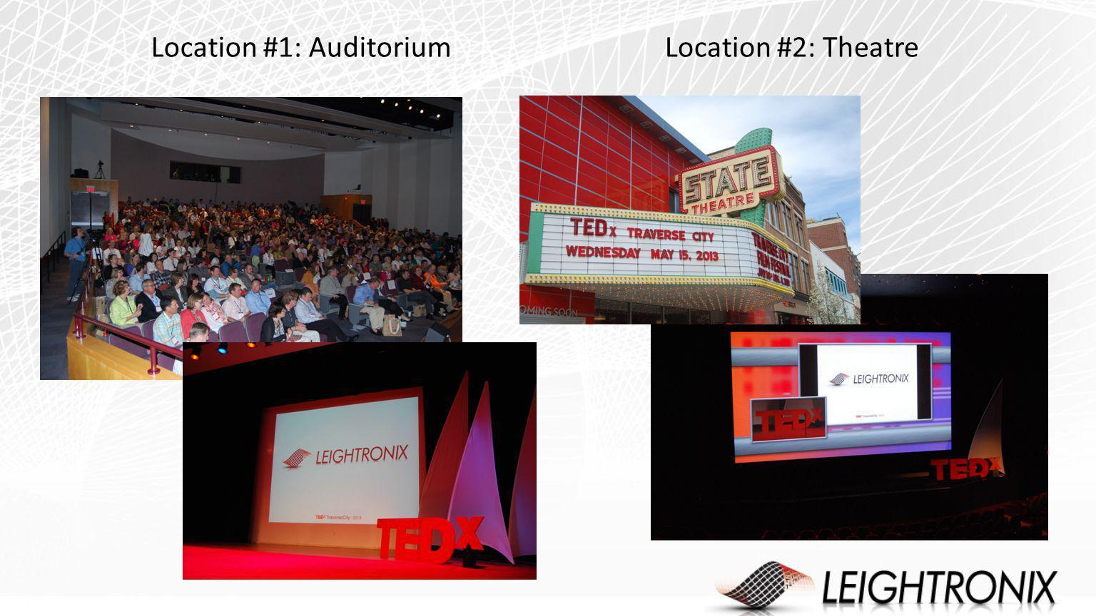 Location #1: AuditoriumLocation #2: Theatre