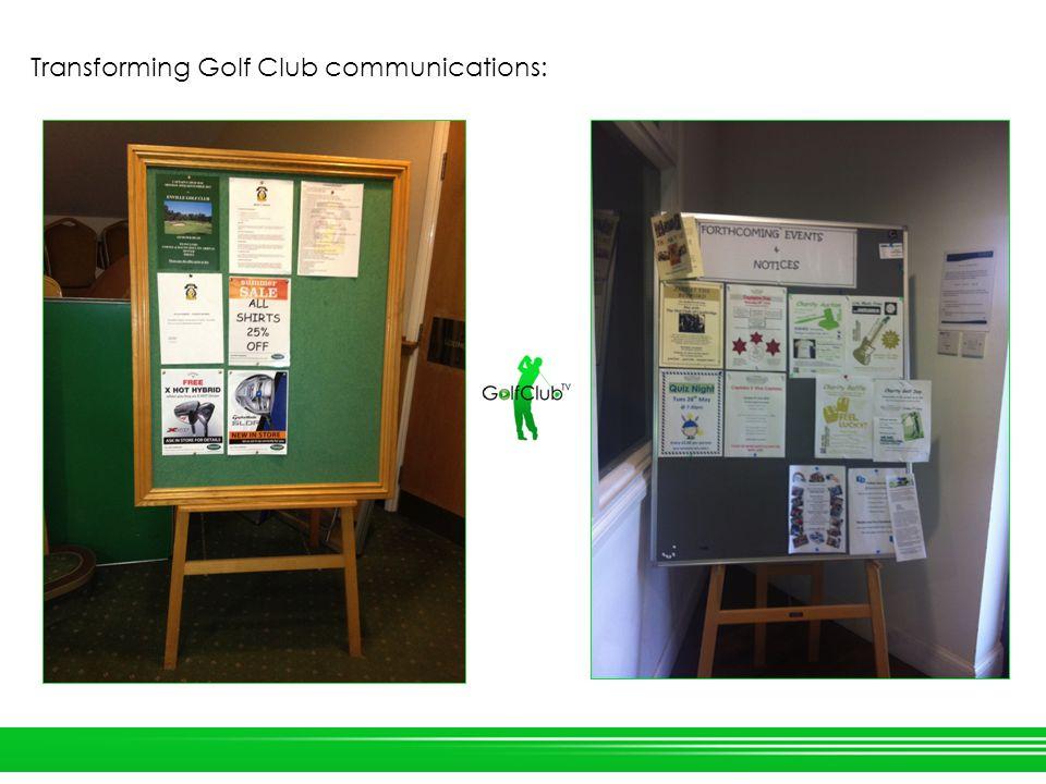 Transforming Golf Club communications: