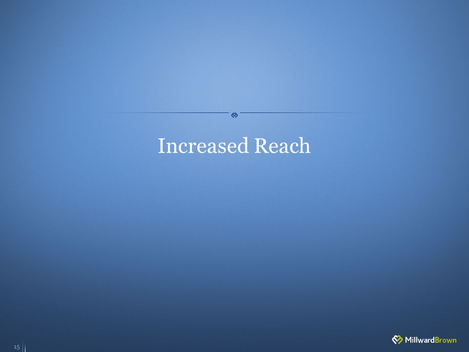 15 Increased Reach