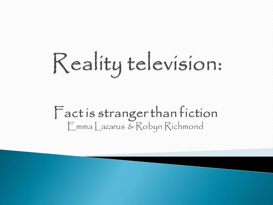 Fact is stranger than fiction Emma Lazarus & Robyn Richmond
