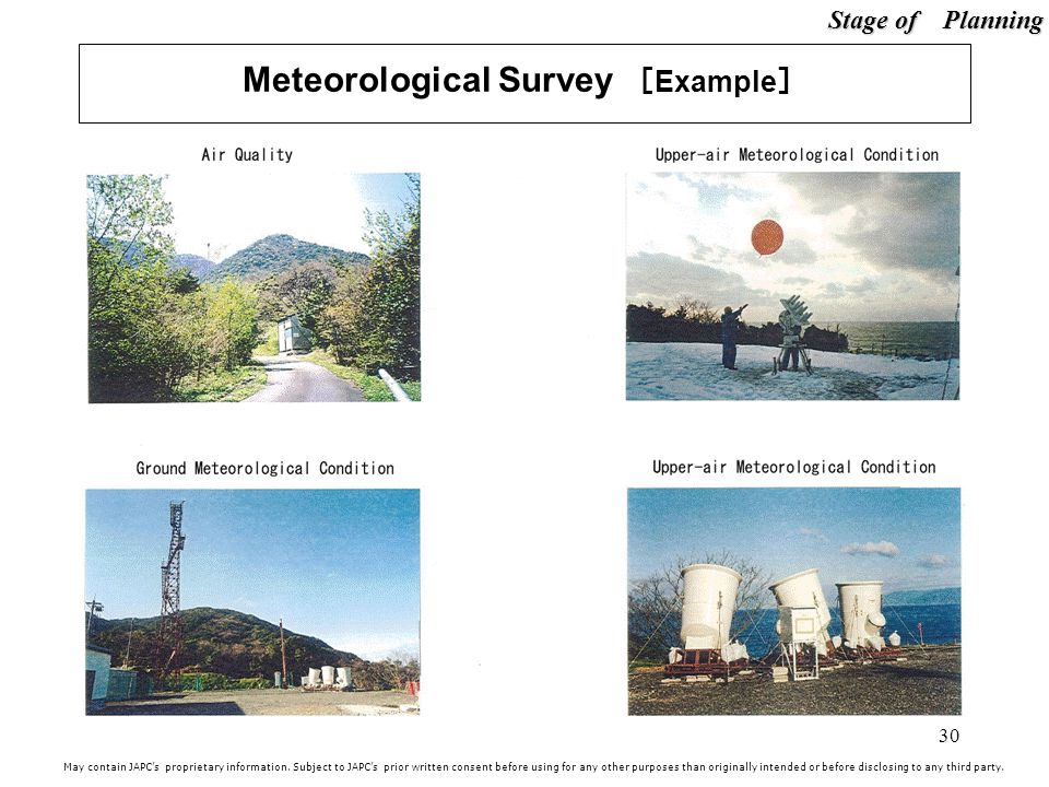 30 Meteorological Survey Example May contain JAPCs proprietary information.