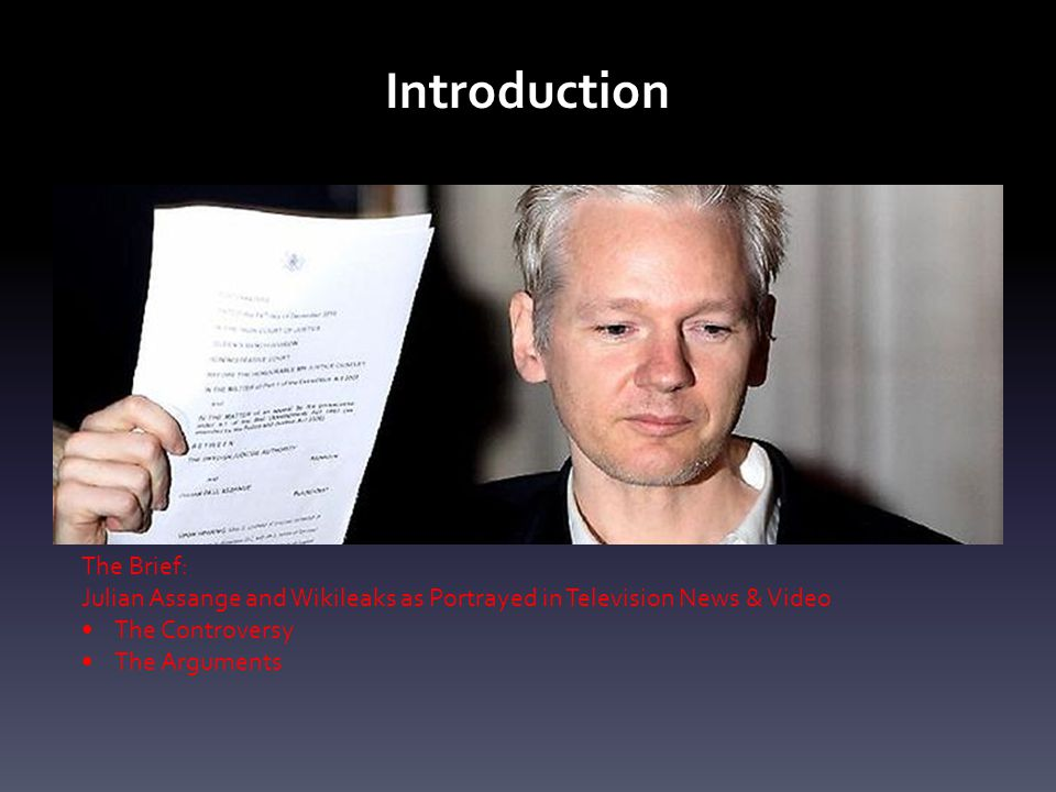 Introduction The Brief: Julian Assange and Wikileaks as Portrayed in Television News & Video The Controversy The Arguments