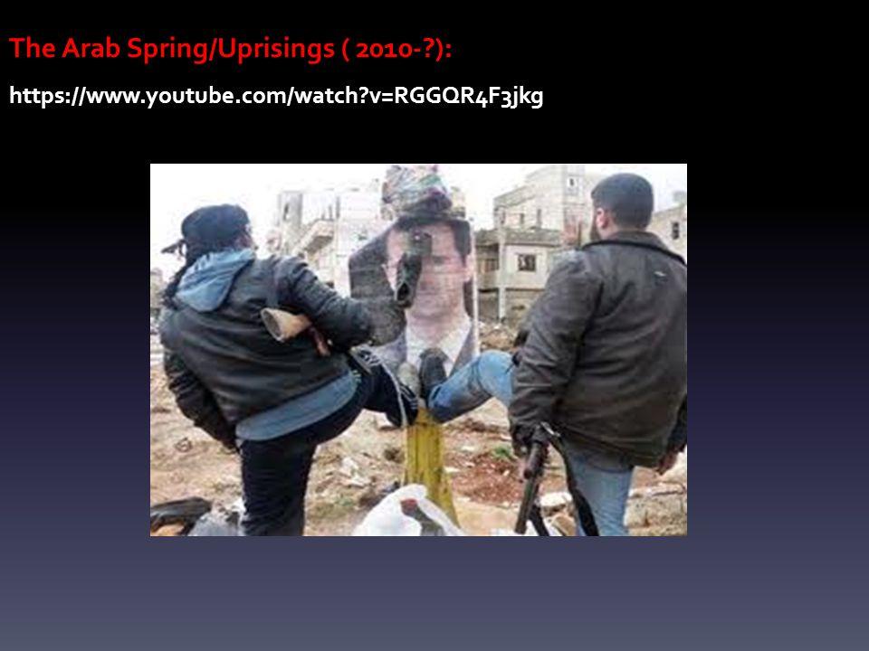 The Arab Spring/Uprisings ( 2010-?): https://www.youtube.com/watch?v=RGGQR4F3jkg