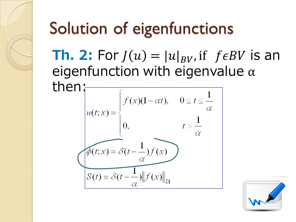 Solution of eigenfunctions