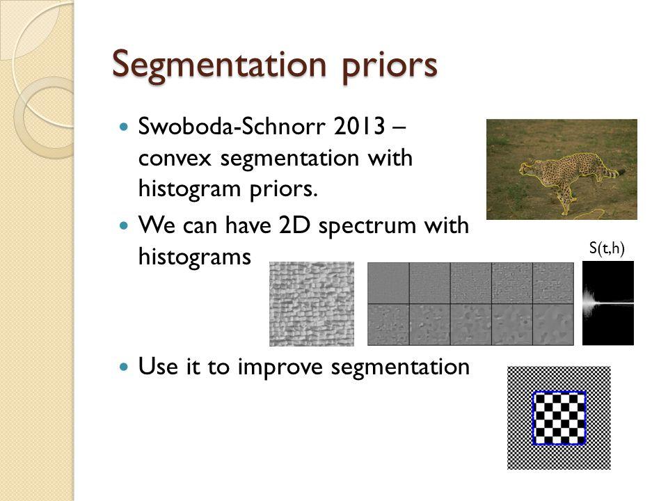 Segmentation priors Swoboda-Schnorr 2013 – convex segmentation with histogram priors.
