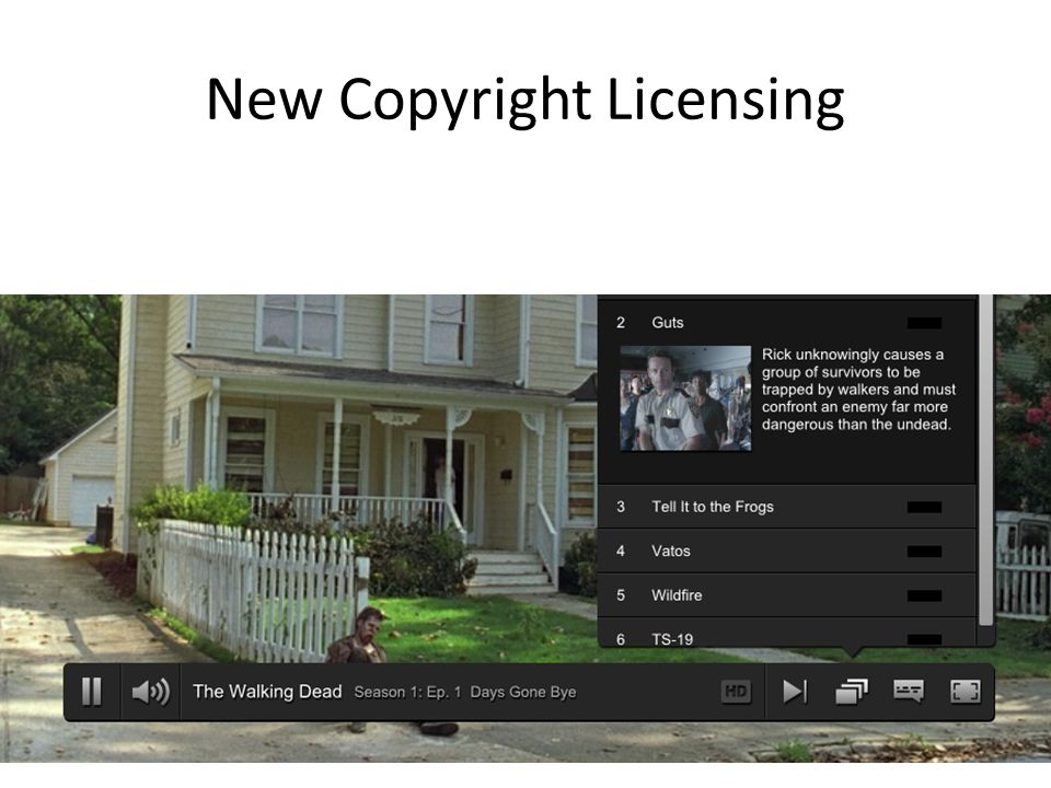New Copyright Licensing