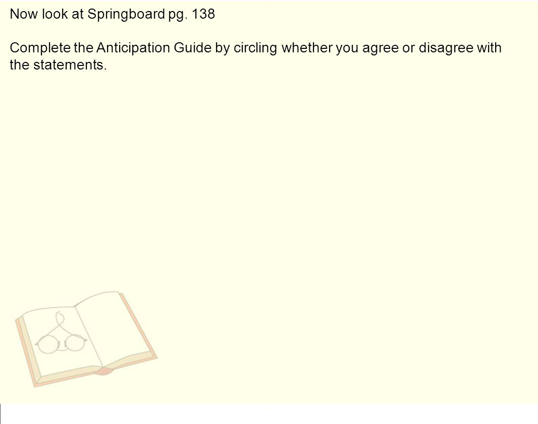 Now look at Springboard pg.