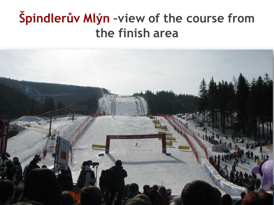Špindlerův Mlýn –view of the course from the finish area