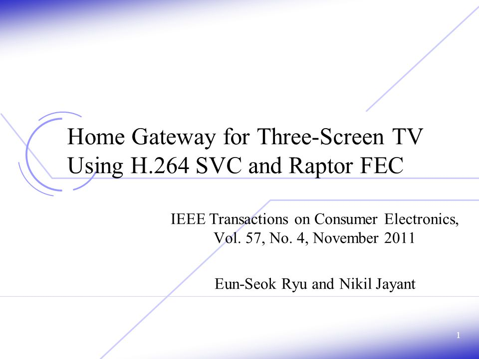 Experimental Results Sample video sequences for three-screen TV 22