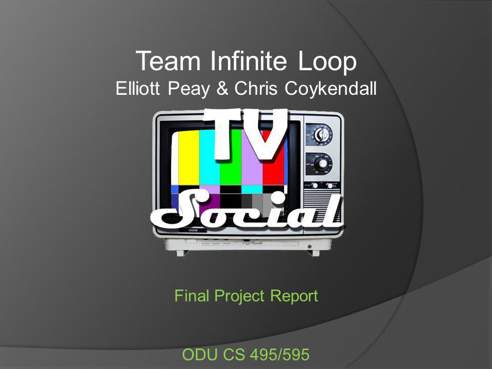 Team Infinite Loop Elliott Peay & Chris Coykendall Final Project Report ODU CS 495/595